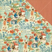 """Children's Hour Double-Sided Cardstock 12""""X12""""-July Montage"""