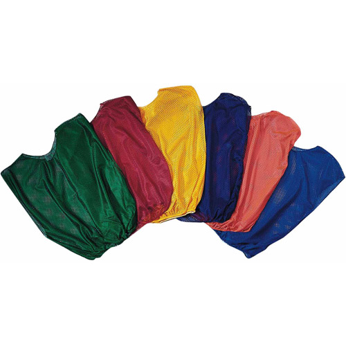 Spectrum Nylon Mesh Pinnies Adult Size, 1 Dozen, Yellow
