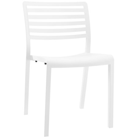 Modern Contemporary Urban Design Outdoor Kitchen Room Dining Chair, White, Plastic ()