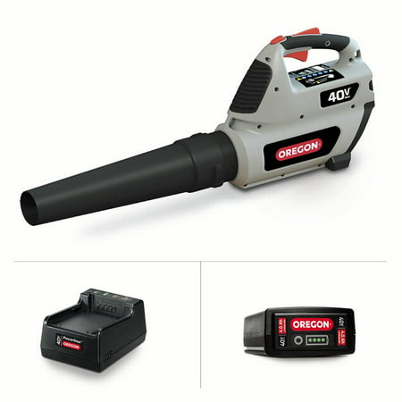 Oregon 40V Max BL300 Handheld Blower Kit, 4.0 Ah Battery and C650 Charger Included