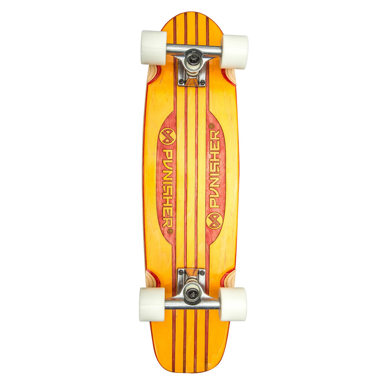 "Punisher Skateboards Special Edition Engraved 28"" Longboard Skateboard, Orange by Punisher Skateboards"