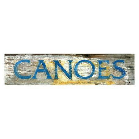 Canoes Wall Art - 32W x 7H in.