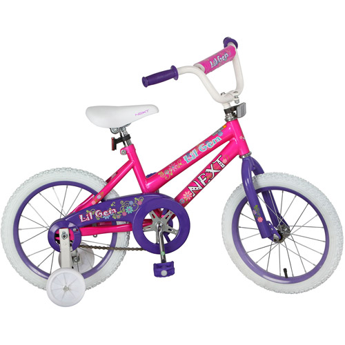 "16"" NEXT Lil' Gem Girls' Bike, Pink"