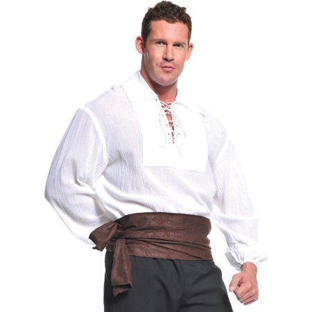 White Pirate Shirt Adult Halloween Costume (White Horse Halloween)