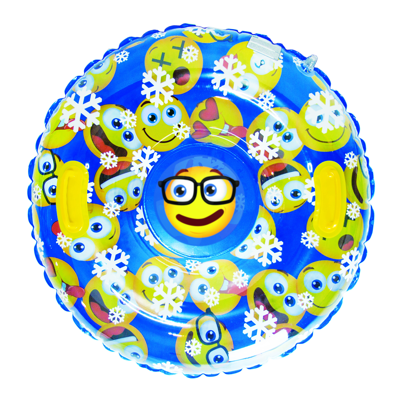 "32"" Emoji Patterned Snowball Snowtube"
