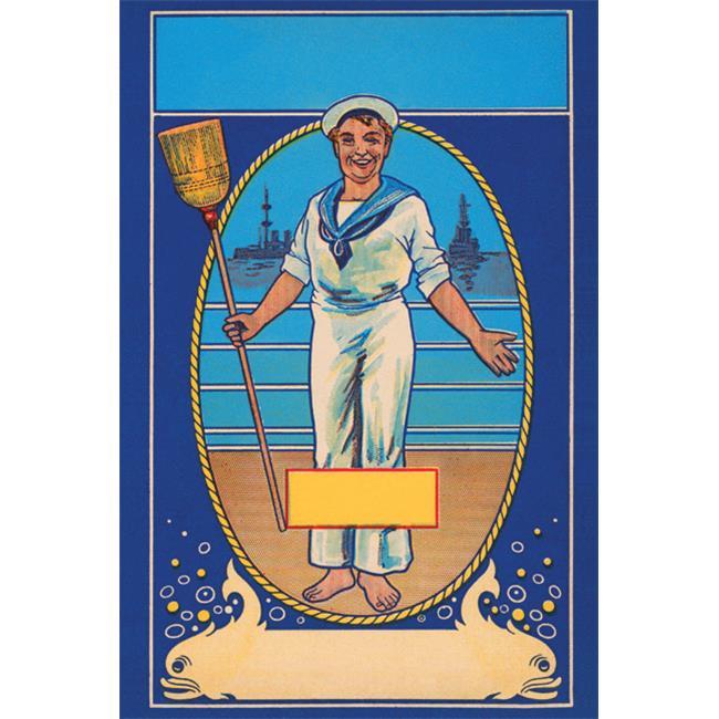 Buy Enlarge 0-587-26318-0P12x18 Sailor Broom Label- Paper Size P12x18
