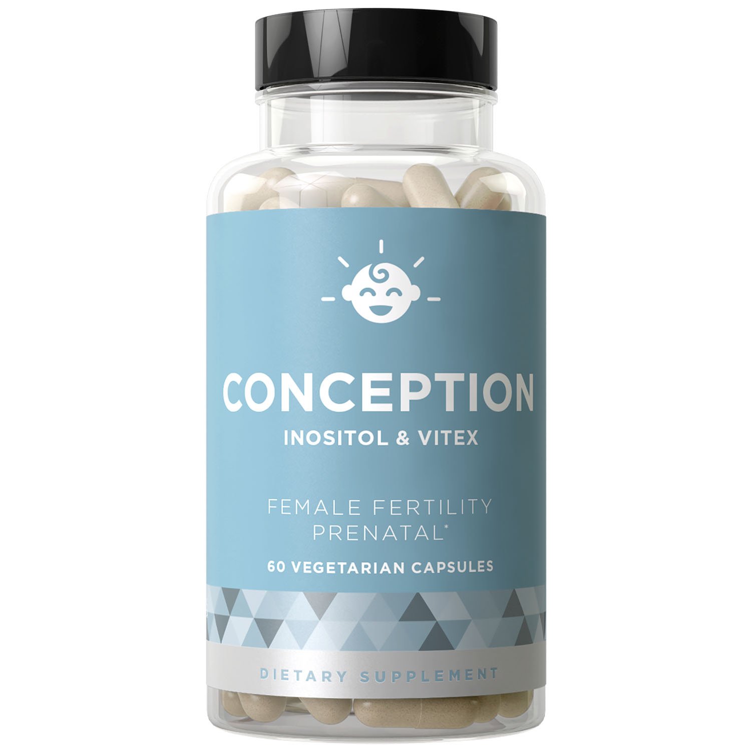 CONCEPTION Fertility Prenatal Vitamins - Regulate Your Cycle, Balance Hormones, Aid Ovulation - Myo-Inositol, Vitex, Folate Folic Acid - 60 Vegetarian Soft Capsules
