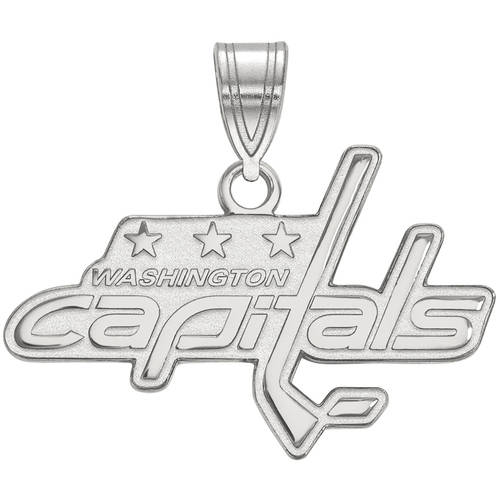 LogoArt NHL Washington Capitals Sterling Silver Medium Pendant