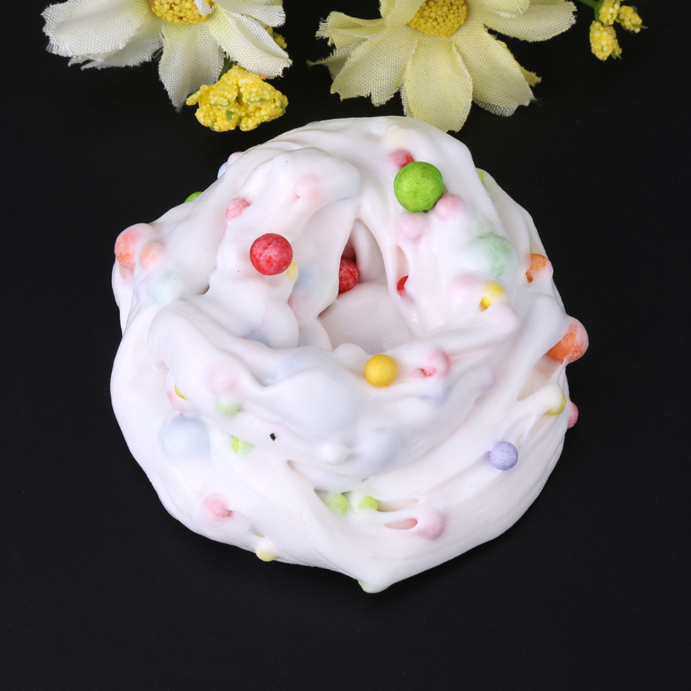 Yosoo DIY Soft Fluffy Slime Stress Relief Plasticine Mud Clay Toy for Children Adults , Fluffy Slime, Mud Toy