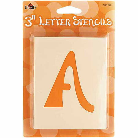 Plaid Mailbox Letter Stencils, 3