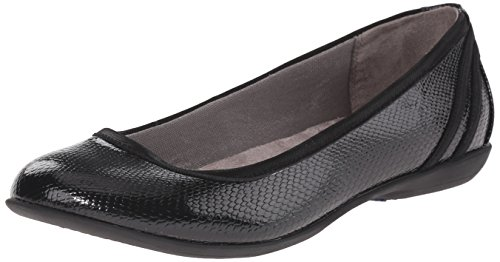 Lifestride Women's Airy Flat, Black, 5.5 M US by LifeStride