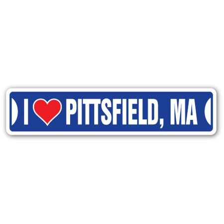 I LOVE PITTSFIELD, MASSACHUSETTS Street Sign ma city state us wall road décor gift](Party City Ma)