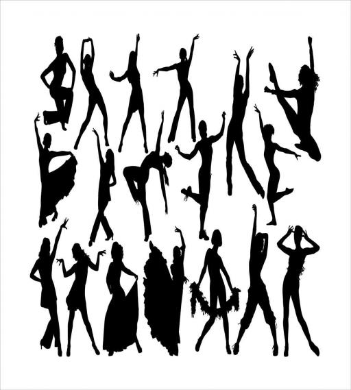 Black And White Queen Size Duvet Cover Set Dancers Silhouette