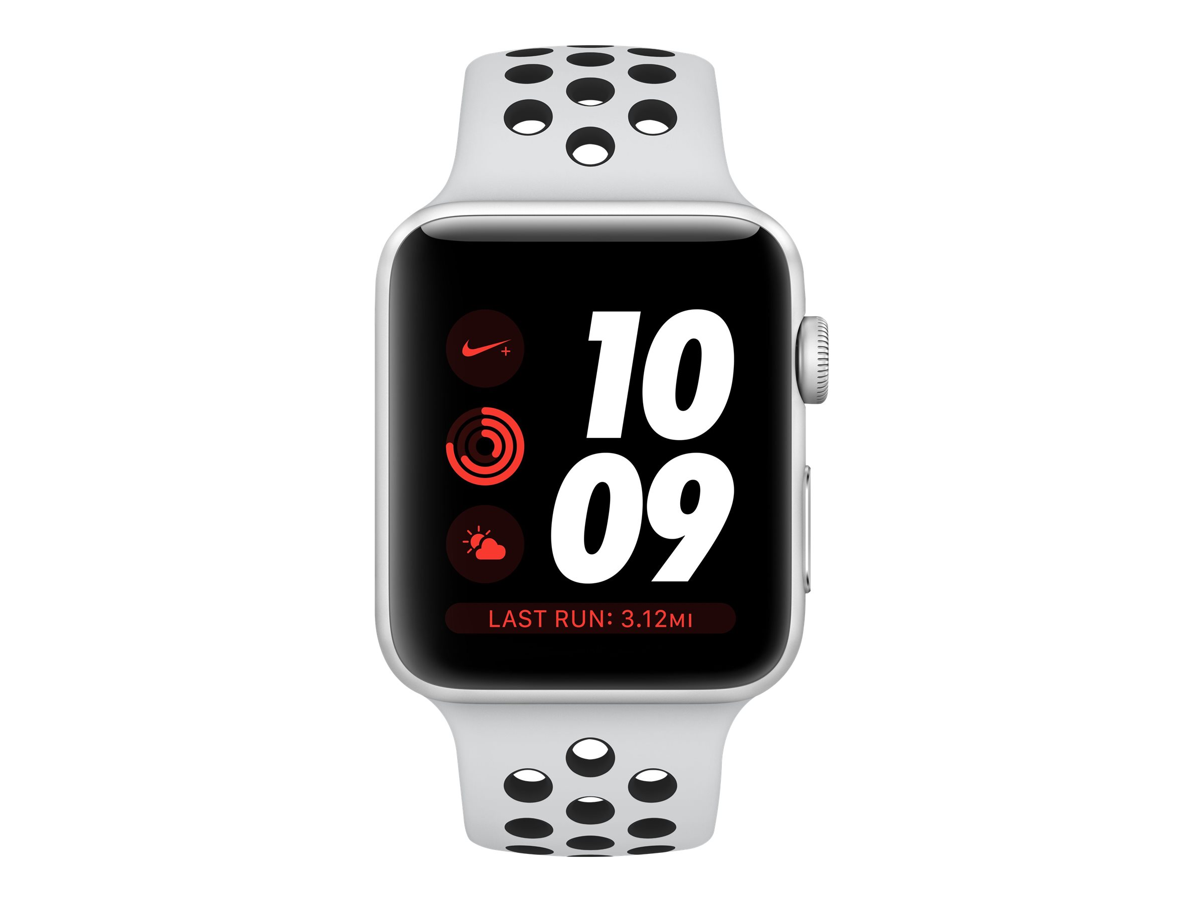 Abastecer rumor America  Apple Watch Nike+ Series 3 (GPS) - 38 mm - silver aluminum - smart watch  with Nike sport band - Walmart.com - Walmart.com