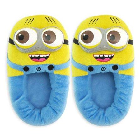 Despicable Me 2, 2 Eyed With Open Mouth Minion Jorge Child Slippers - Despicable Me Adult Slippers