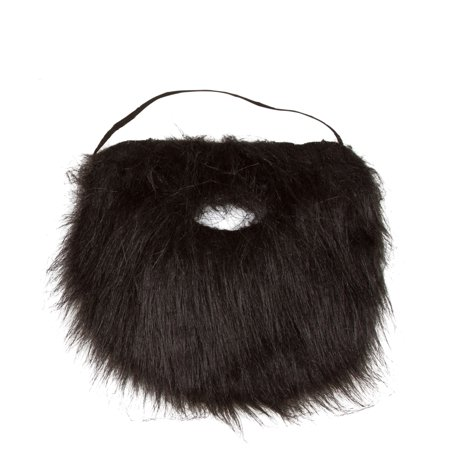 Costume and Character Beard with Elastic By Capital Costumes (Black)