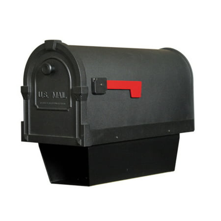 Special Lite Products Savannah Curbside Post Mount Mailbox with Paper Tube
