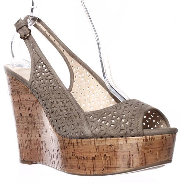 Womens Nine West Axey Wedge Pump - Taupe