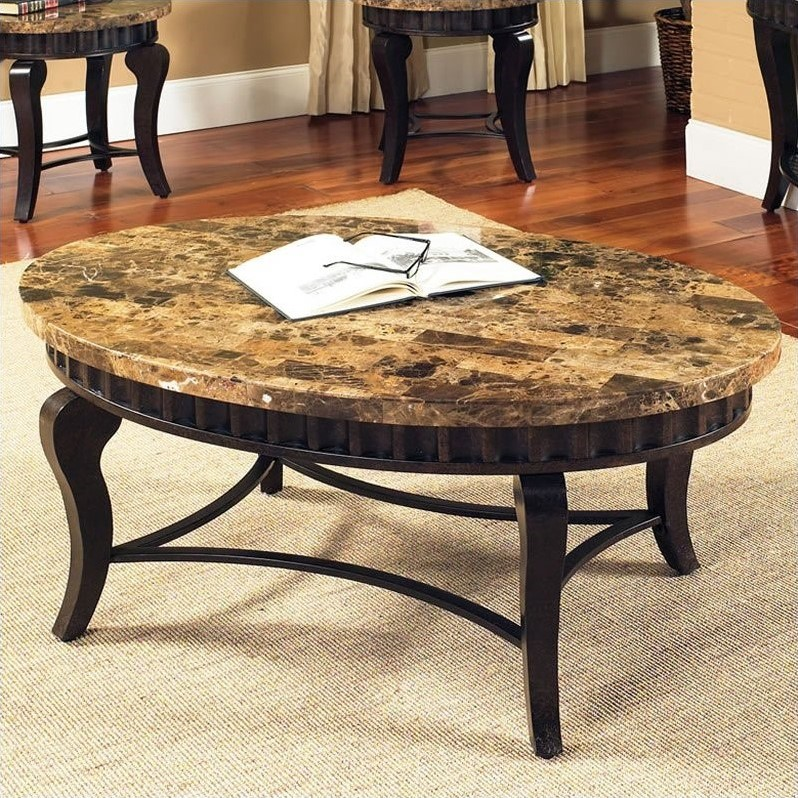 Steve Silver Company Hamlyn Marble Top Cocktail Table In Natural Marble.  Write A Review