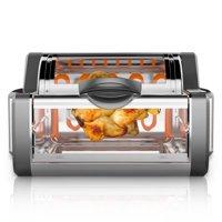NutriChef PKRTVG65BK - Countertop Rotisserie & Grill Oven - Rotating Kitchen Cooker