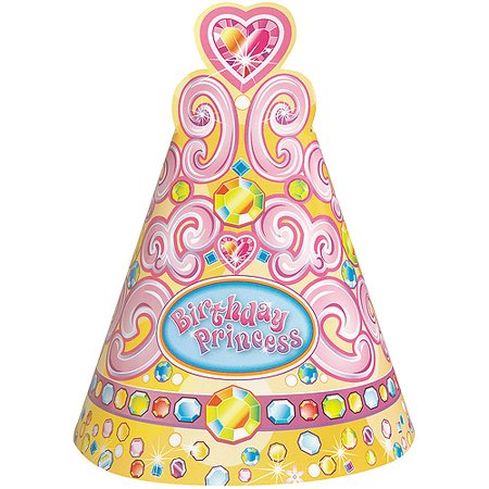 Pretty Princess Birthday Party Hats 8 Count