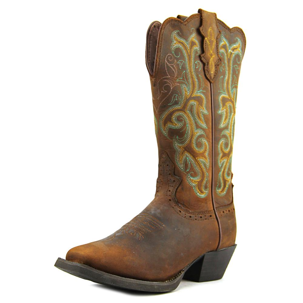 Justin Boots L2552 Square Toe Leather Western Boot by Justin Boots