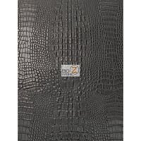 Aquaguard® Crocodile Marine Vinyl Fabric - Auto/Boat - Upholstery Fabric / Death Black / Sold By The Yard
