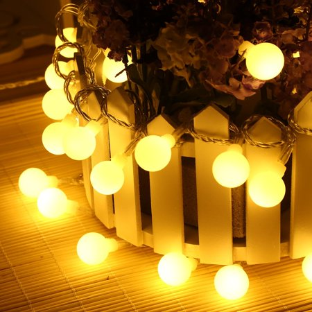 Qedertek Battery Ed Dimmable Globe String Lights 17 4 Ft 50 Led Decorative Christmas For Home Garden Patio Lawn Party And Holiday