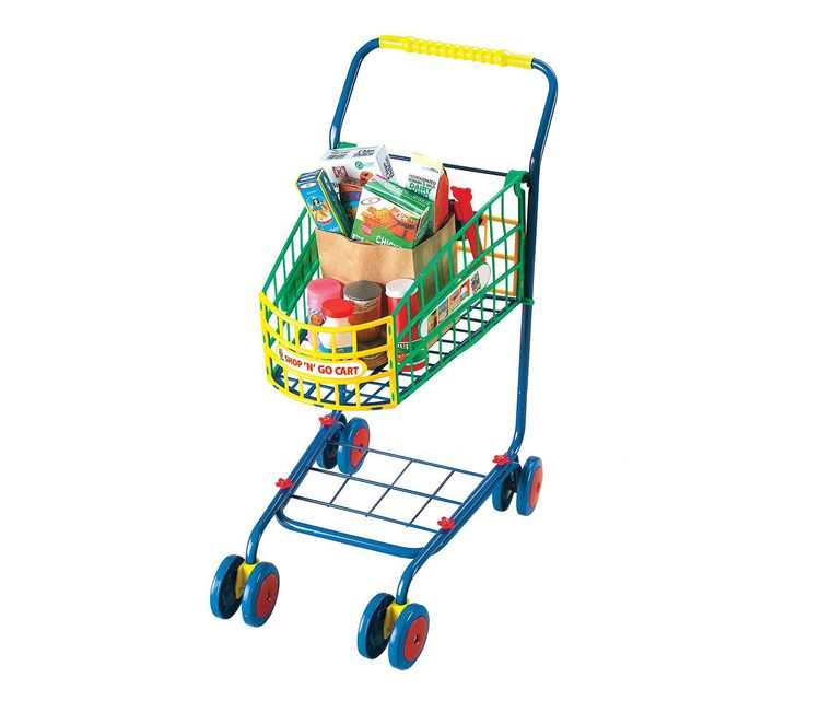 Mozlly Small World Toys Living Shop N Go Shopping Cart (10pc Set) (Multipack of 3) Pretend Play Playsets by Small World Toys