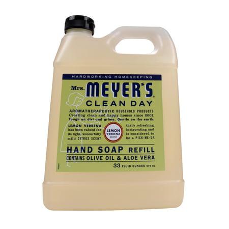Mrs. Meyer's Clean Day Liquid Hand Soap Refill, Lemon Verbana, 33 fl oz