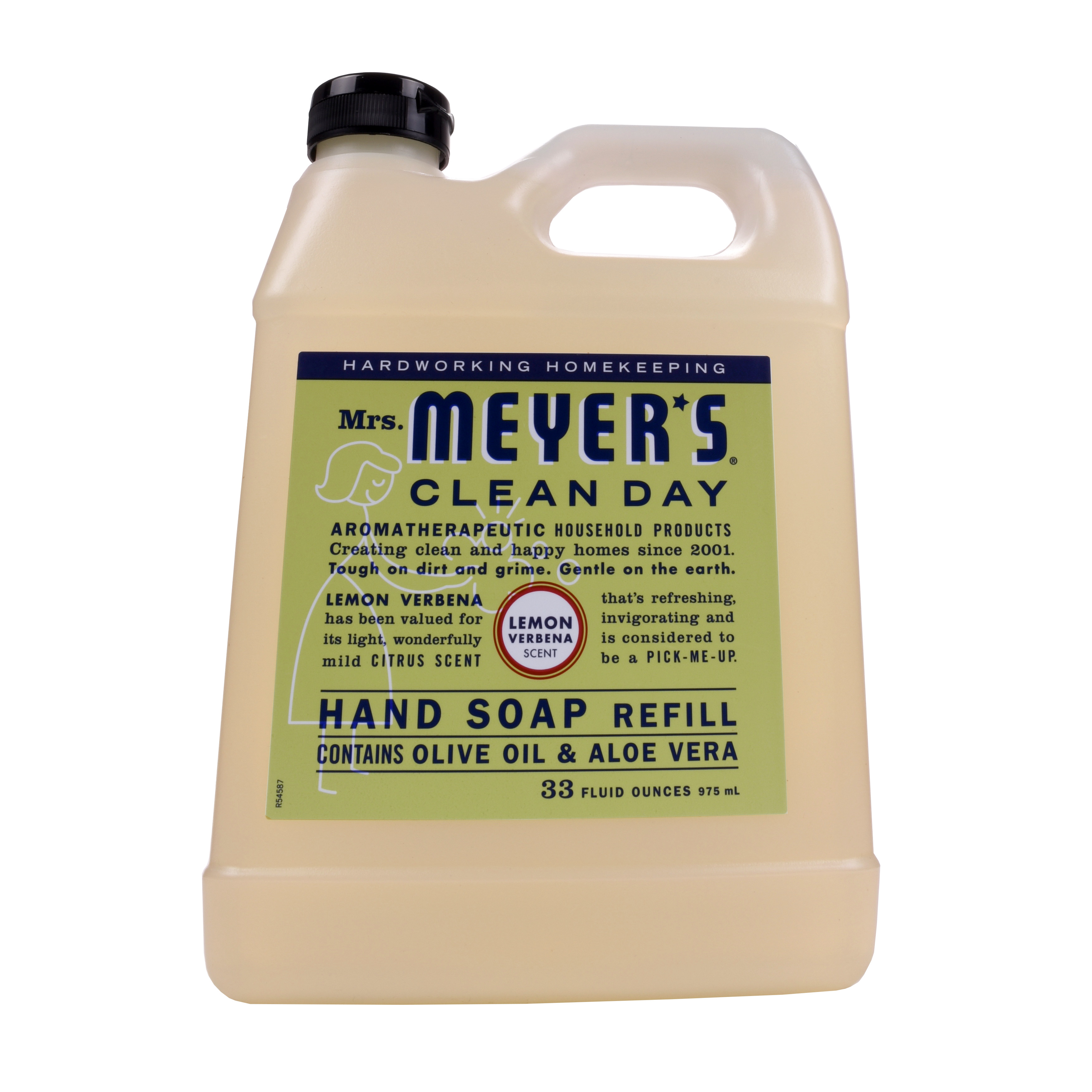 Mrs. Meyer's Clean Day Liquid Hand Soap Refill, Lemon Verbana, 33 fl oz
