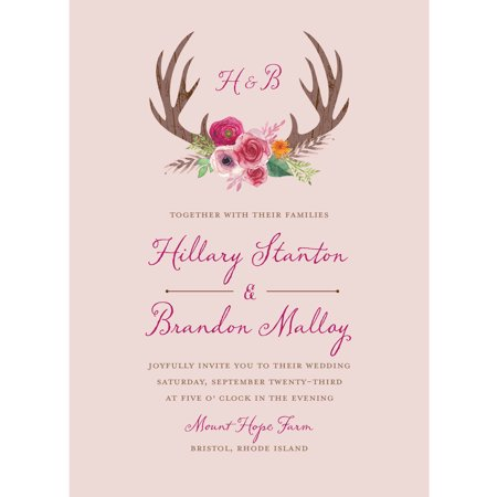 Red And White Wedding Invitations - Woodland Fantasy Standard Wedding Invitation