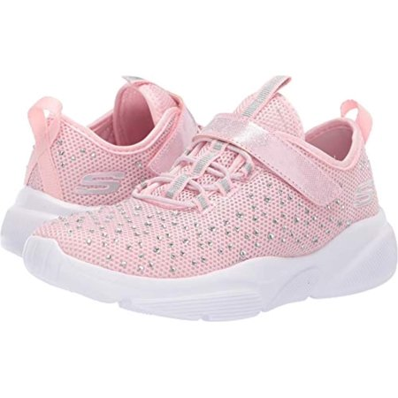 Skechers Kids Girl's Meridian-Best Intent Shoe, Light Pink, 3H Medium US Big (Best Deals On Skechers Shoes)