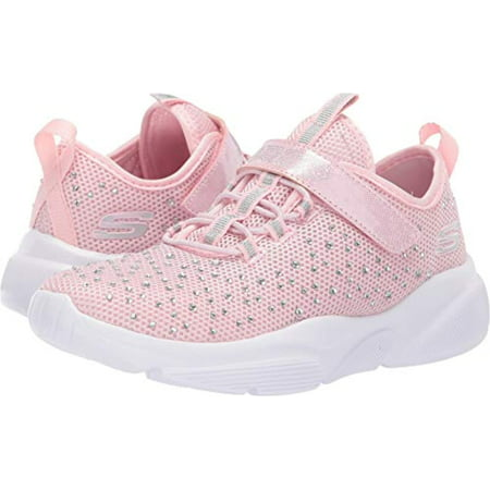 Skechers Kids Girl's Meridian-Best Intent Shoe, Light Pink, 3H Medium US Big