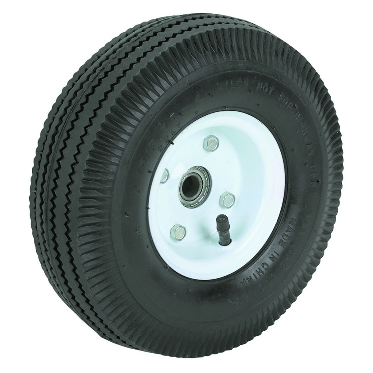 10 in. Pneumatic Tire with Steel Hub