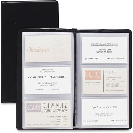 Cardinal Business Card File, Black, 72 (Business Card Portfolios)