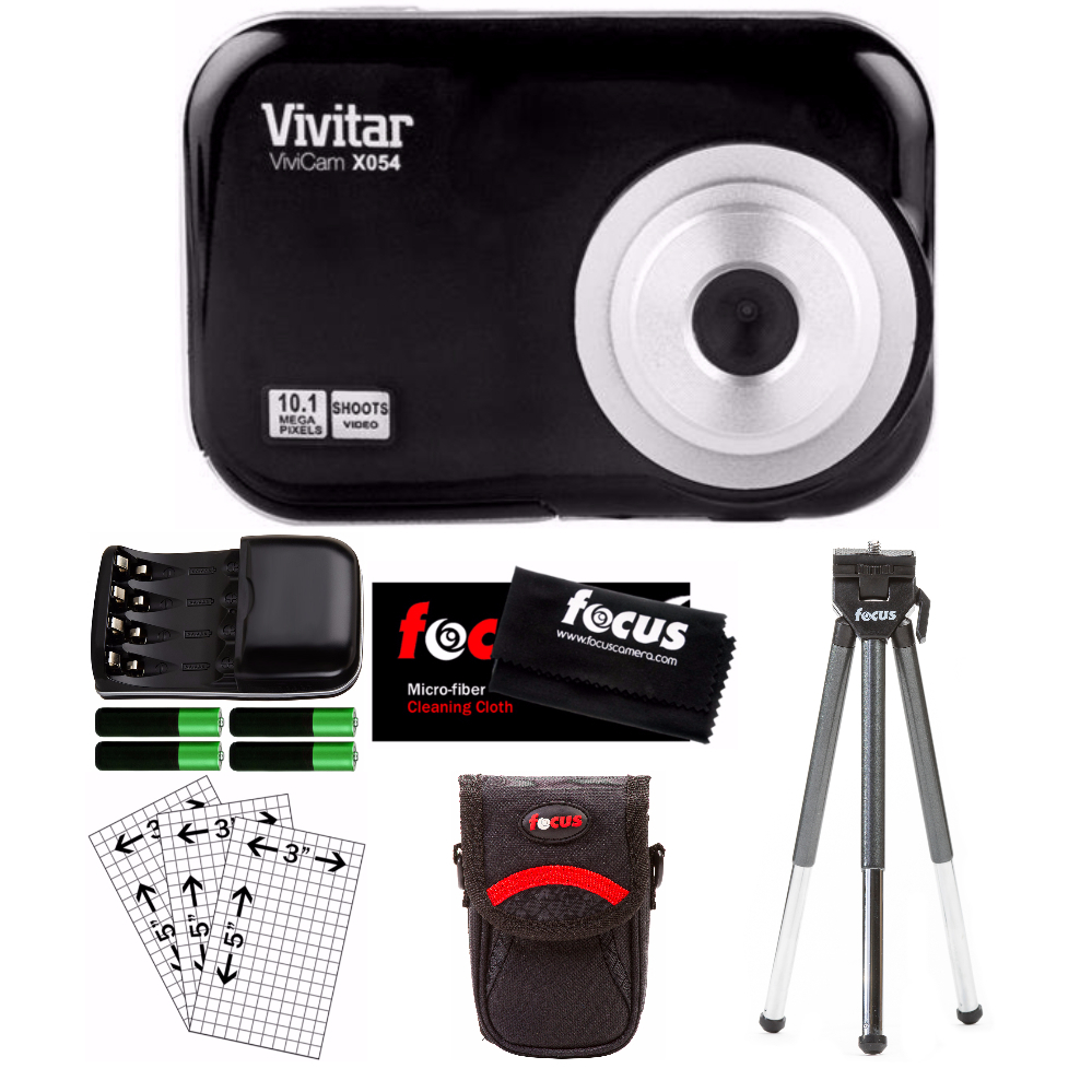Vivitar VX054 10.1 Mega Pixel Digital Camera w/ Accessory Starter Kit - Black