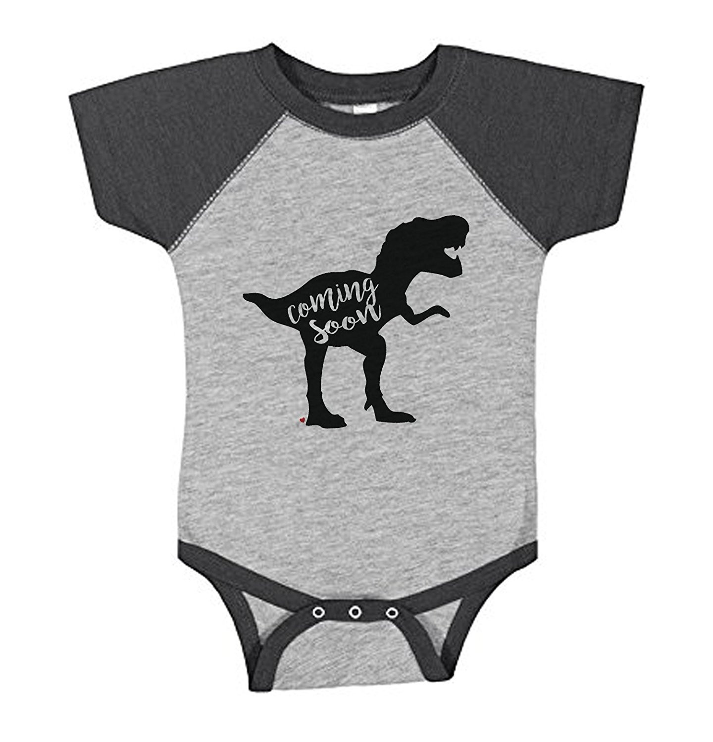 Custom Party Shop Baby Dinosaur Coming Soon Pregnancy Announcement Onepiece -