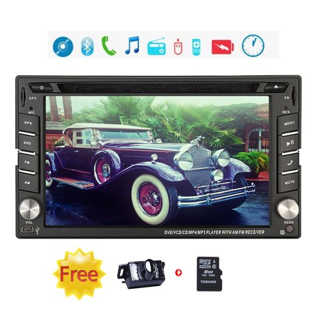 EinCar Win 8 Ui 6.2 inch In-dash Double-din LCD Touch Screen GPS Navigation Car Video Audio Radio Auto Stereo with Bluetooth, Ipod, Subwoofer output+Free GPS Antenna+free 8GB GPS Map+Riview Camera