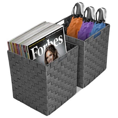 Sorbus Foldable Storage Cube Woven Basket Bin Set- Great for Home Organization, Nursery, Playroom, Closet, Dorm, (Dorm Girl.com)