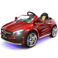 2019 Mercedes Benz CLA 12V Ride On Car for Kids w/ Remote Control, | Kids Car to Ride Licensed Kid Car to Drive - Dining Table, Leather Seat, Openable Doors, LED Lights