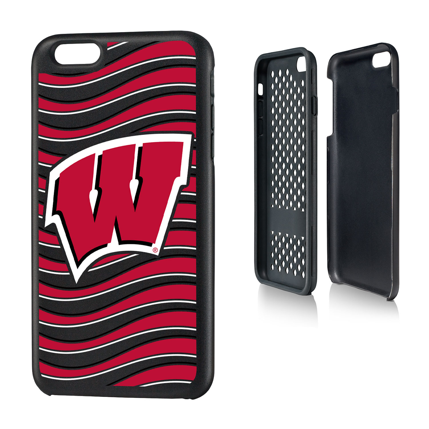 UW Wisconsin Badgers Wave Rugged Case for iPhone 6 Plus