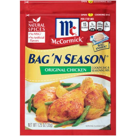 Mccormick Bag N Season Original En Cooking Seasoning Mix 1 25 Oz