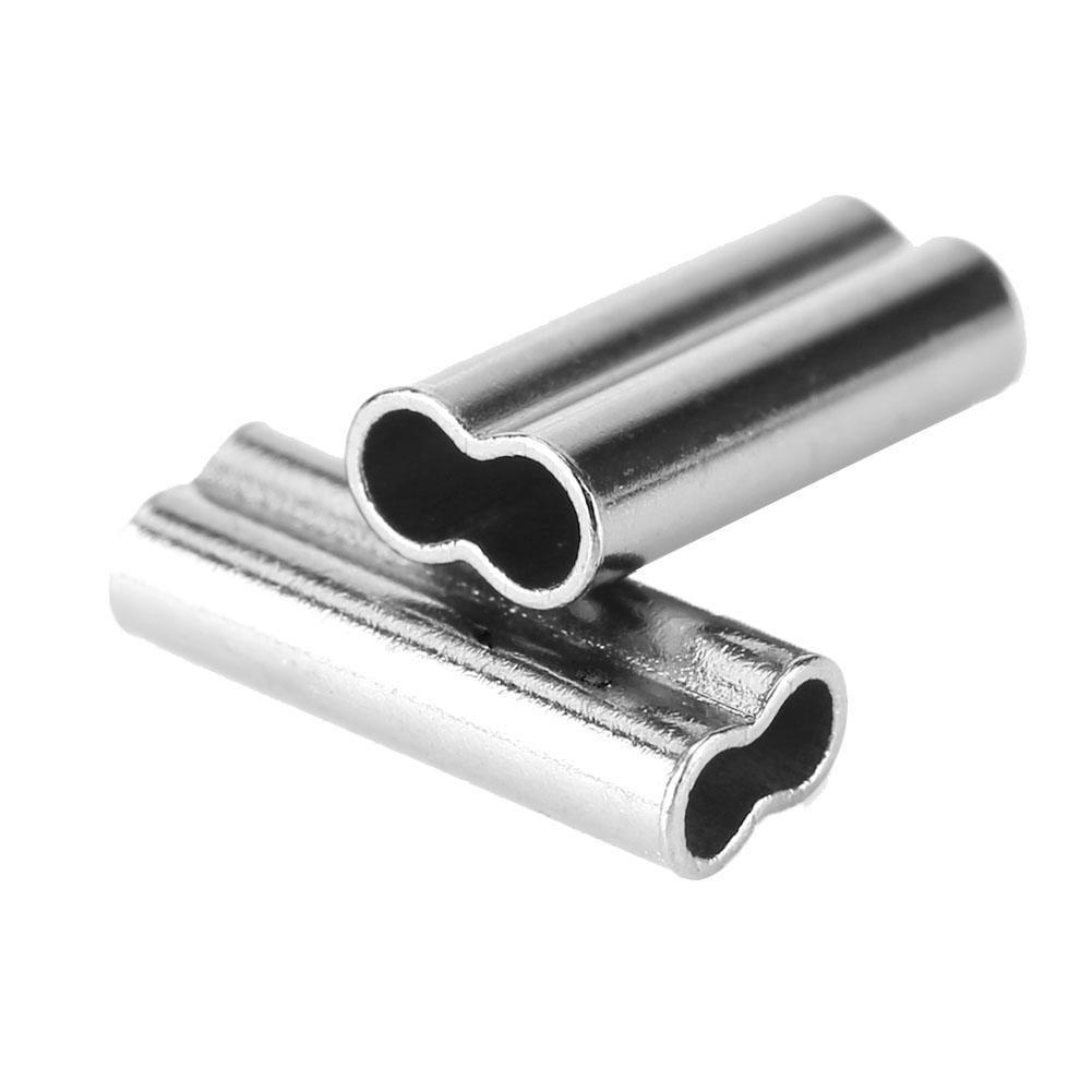 100x Premium Aluminum sleeves for monofilament Rigging Trace Leader Crimps BCDE