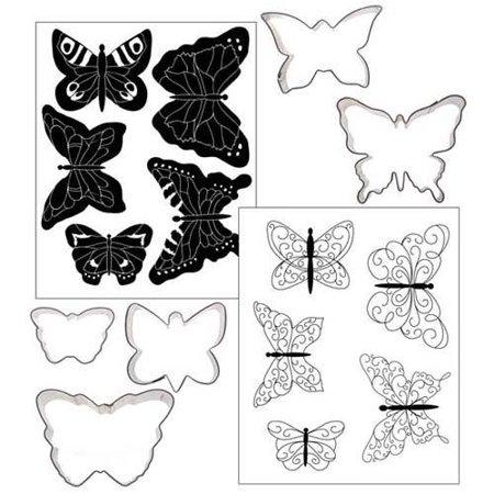 Butterflies Texture Cookie Cutter Set - 53-1007 - National Cake Supply
