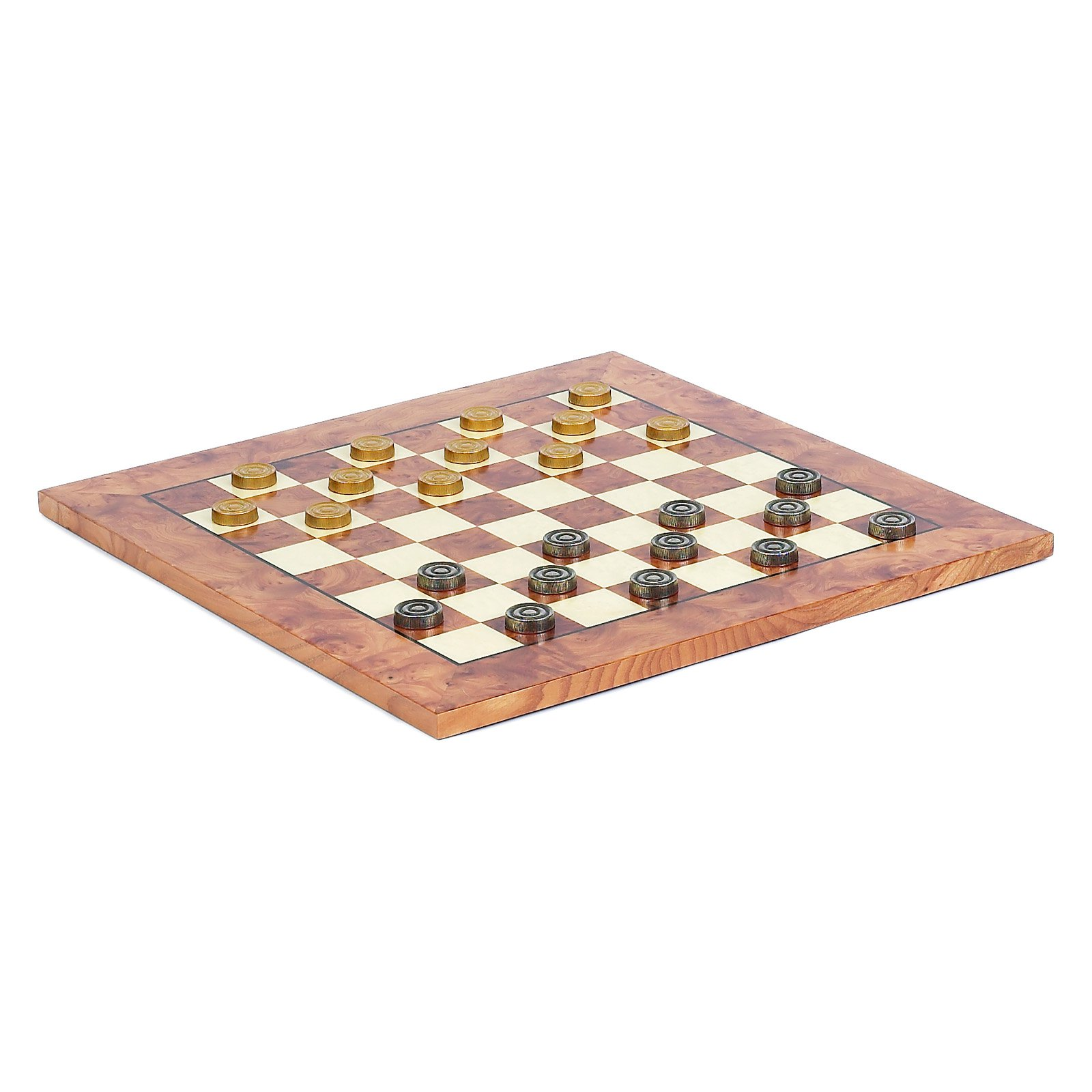 Exotic Chess Board & Metal Checkers from Italy by Cambor Games