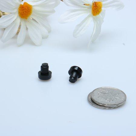 4pcs 6mm Black Stem Bumpers Glide, Patio Outdoor Furniture Glass Desk Top - image 4 of 4
