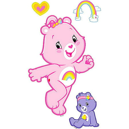 CARE BEARS LOVE 24 Wall Decals Room Cheer Rainbow Tenderheart Decor Stickers