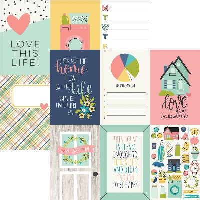 """Domestic Bliss Double-Sided Elements Cardstock, 12"""" x 12"""", 4"""" x 6"""", Vertical Journaling Cards"""