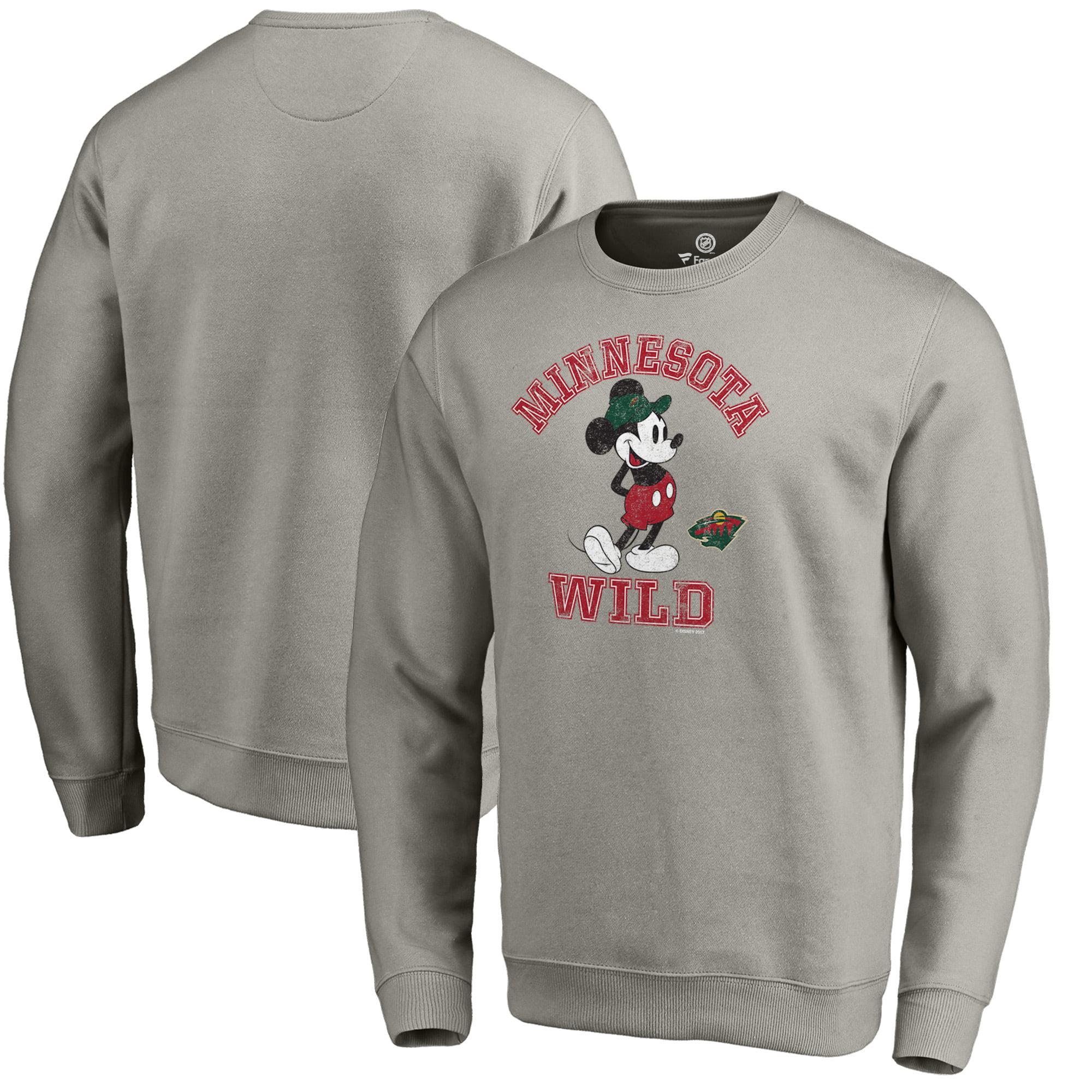 Minnesota Wild Fanatics Branded Disney Tradition Sweatshirt - Heathered Gray